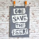 'God Save The Beer' Tea Towel