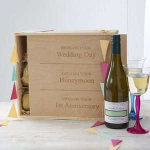 Personalised Wedding Wine Box - gifts for him