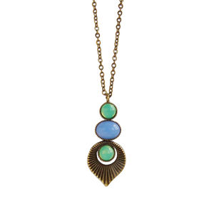 Art Deco Style Pastel Necklace