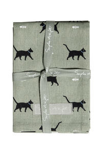 Pair Of Cat Tea Towels