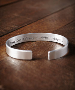 Personalised Hand Stamped Mans Cuff - men's jewellery