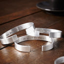 Personalised Hand Stamped Mans Cuff