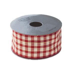 Red Gingham Christmas Ribbon - view all sale items