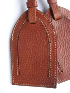 Handmade Leather Luggage Tag - bags & purses