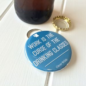 Oscar Wilde Bottle Opener Keyring
