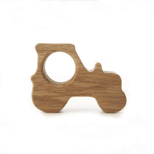 Oak Tractor Wooden Oak Egg Cup / Napkin Ring