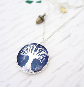 From Small Seeds Locket Necklace Silver
