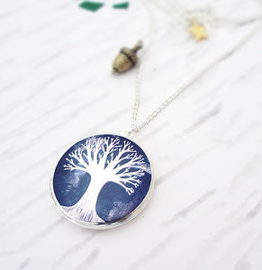 From Small Seeds Locket Necklace Silver - jewellery sale