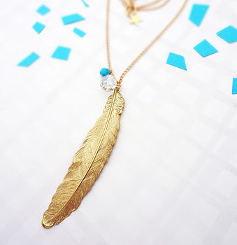Shake Your Tail Feather Necklace