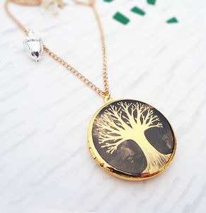 From Small Seeds Gold Locket Necklace - lockets