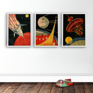 Russian Space Prints Set - gifts for geeks