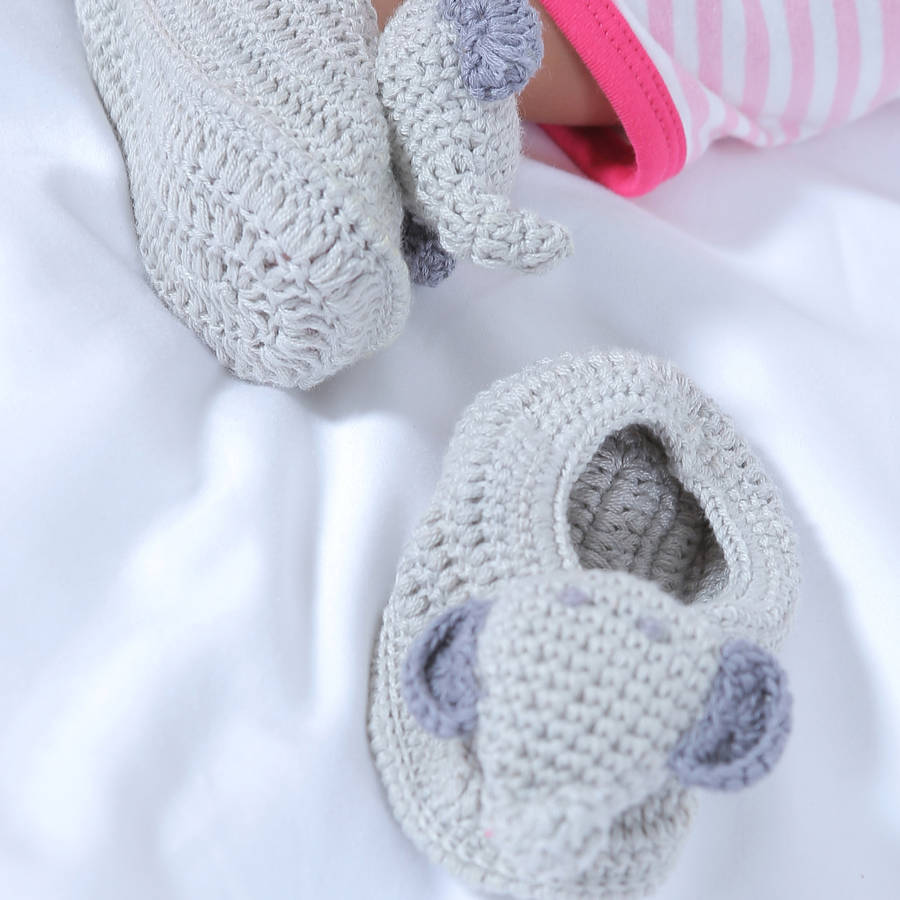 crochet elephant baby booties by albetta ...
