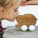 Baby Elephant Pull Along Wooden Toy