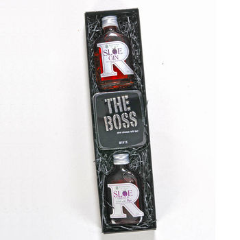 Sloe Gin And Port With 'The Boss' Mints Gift Set