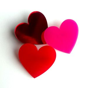 Acrylic Love Heart Brooch - pins & brooches