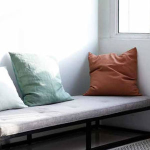 Square Linen Cushion Cover - living room