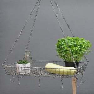 Hanging Iron And Wire Rack - utensil holders