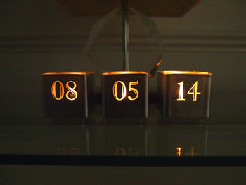 Personalised Date Tealight Candle Holder Set