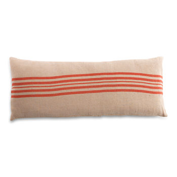French Style Red Stripe Bench Cushion Cover