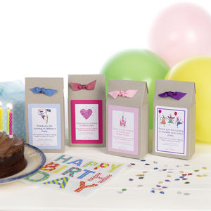 Personalised Shortbread Cookie Mix Party Bags - children's parties