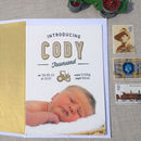 Tractor Letterpress Birth Announcement