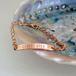 Rose Gold Bracelet Carpe Diem