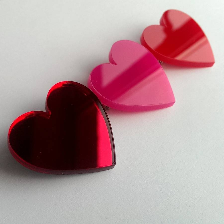 Acrylic Love Heart Brooch By Twiggd Notonthehighstreet Com