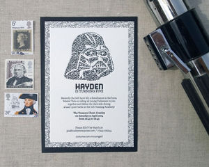 I Am Your Father, Letterpress Invitation