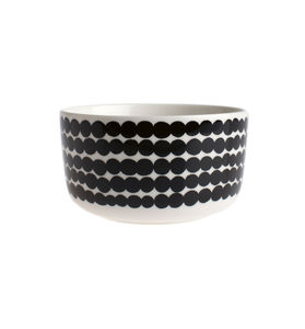 Graphic Monochrome Dots Cereal Bowl - bowls