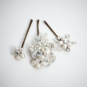 Jardine Hair Pin Set - bridal hairpieces
