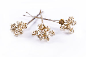 Pearl Filigree Pins - bridal hairpieces