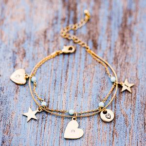 Personalised Delicate Bead Charm Bracelet - jewellery sale