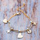 Personalised Delicate Bead Charm Bracelet