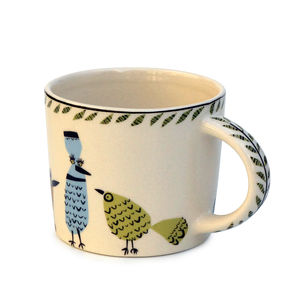 Birdlife Mug - crockery & chinaware