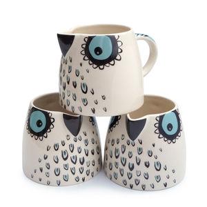 Owl Milk Jug