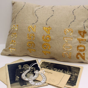 Wedding Anniversary Cushion - personalised cushions