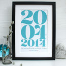 Personalised Daddy's Memorable Date Framed Print