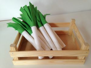 Pretend Play Felt Food Set Of Three Leeks - toys & games