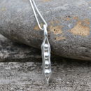 Four Peas In A Pod Handmade Silver Necklace