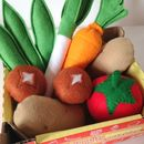 Pretend Play Felt Food Vegetable Collection