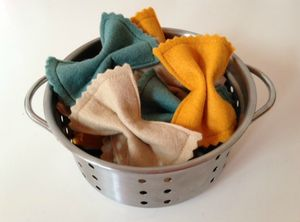 Pretend Play Felt Food Farfalle Pasta Bows