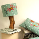 Daisy Lampshade On Duck Egg Dot