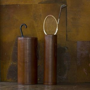 Leather Umbrella Stand - bedroom