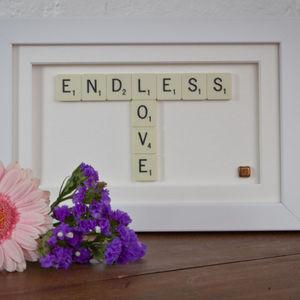 Endless Love Scrabble Art