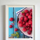 Raspberries Kitchen Wall Decor Canvas