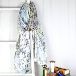 Map Of Europe Silk Scarf - gifts for her