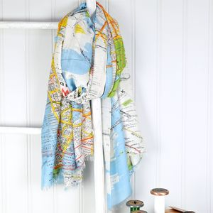 New York City Map Scarf - women's accessories