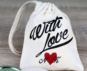 Personalised 'With Love' Wedding Favour Bag - favour bags & boxes