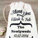 Personalised Wedding Message Favour Bag