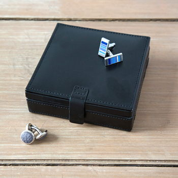 Black Square Cufflink Box